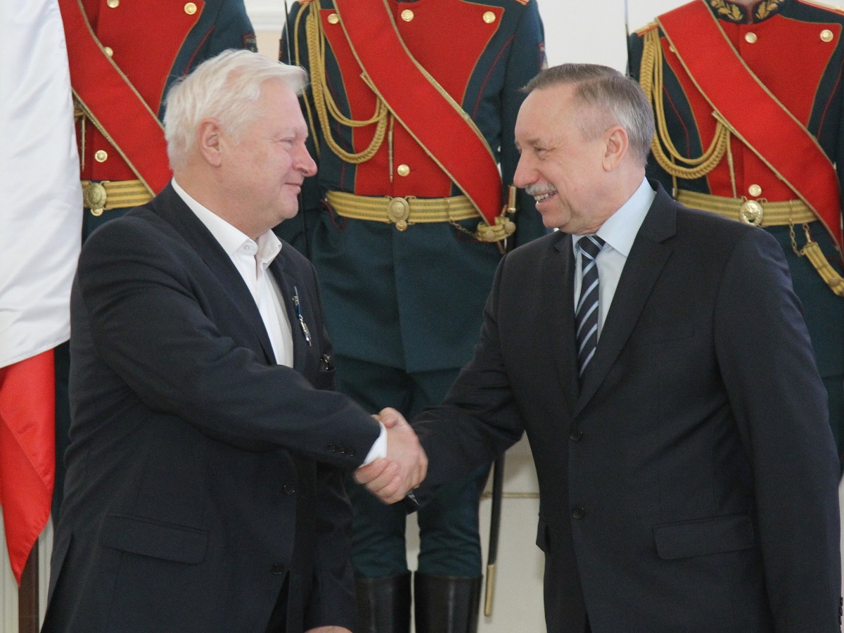 Yuri Schwarzkopf and Acting Governor of St. Petersburg Alexander Beglov